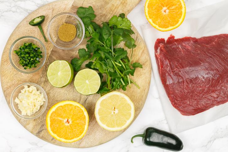 Carne asada ingrediënten