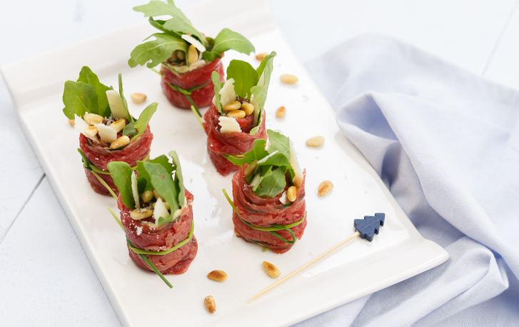Carpaccio rolletjes recept
