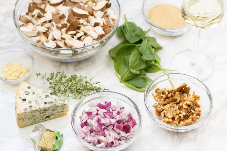 Ingrediënten vegetarische Wellington