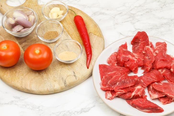 Dendeng blado ingrediënten