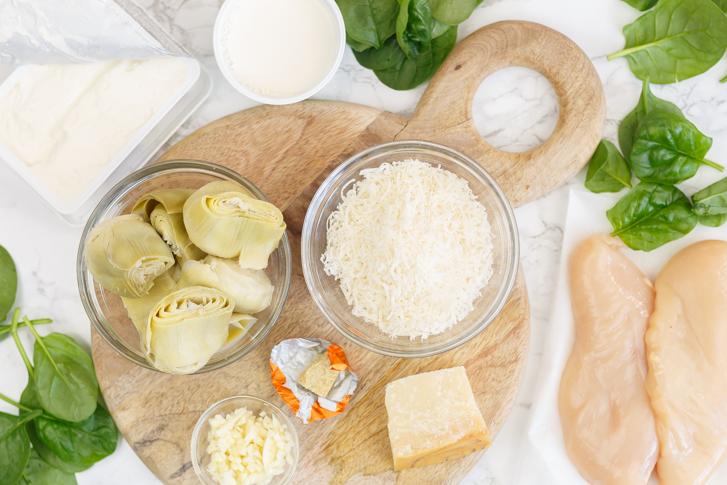Kip in romige saus ingrediënten