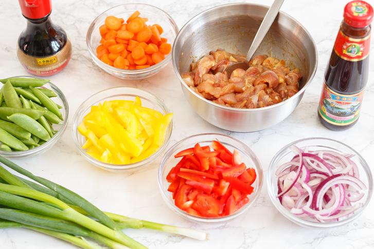 Chinese wrap ingrediënten
