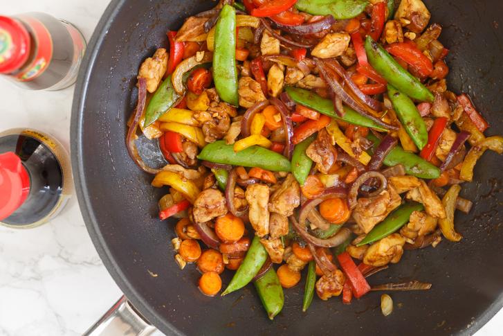 Wrap kip en groenten