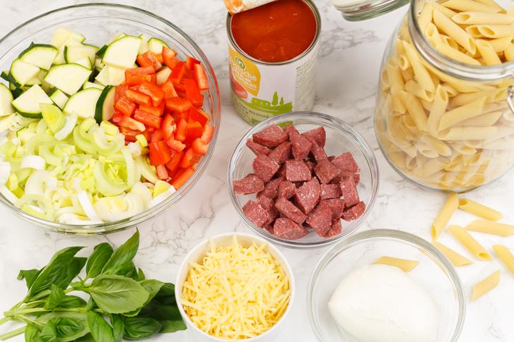 Pasta ovenschotel ingrediënten