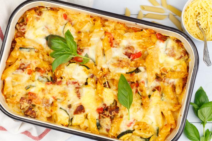 Pasta ovenschotel met groenten