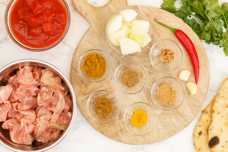 Kip madras ingrediënten