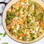 Kip teriyaki met rijst en groenten
