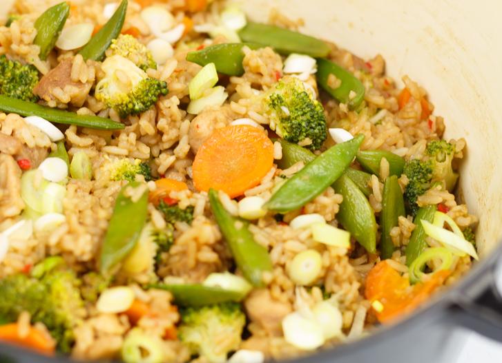 Teriyaki kip met rijst en groenten