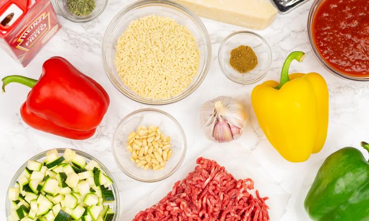 Recept gevulde paprika's