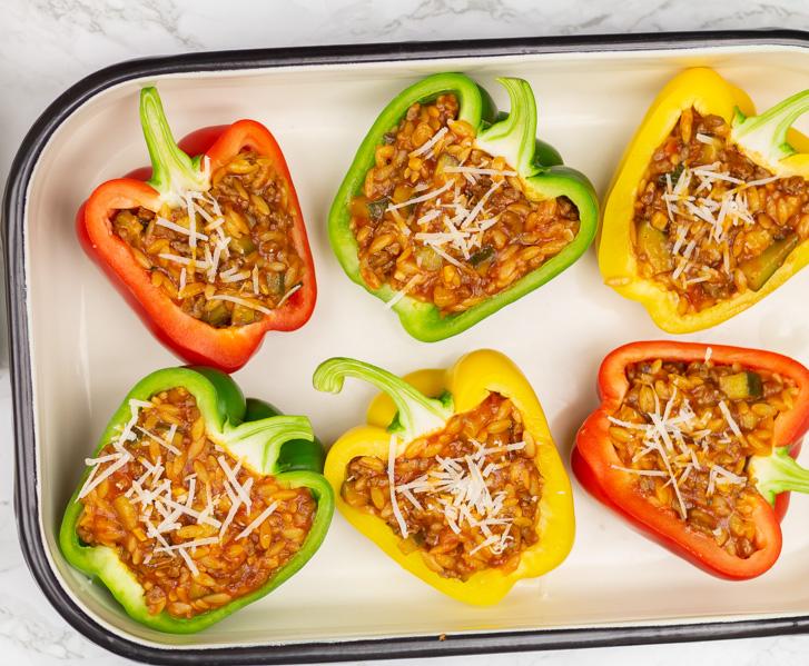 Gevulde paprika's in de oven