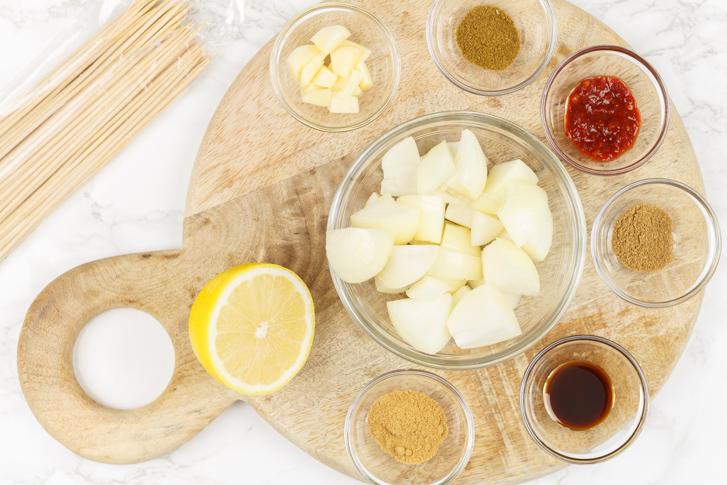 Saté marinade ingrediënten