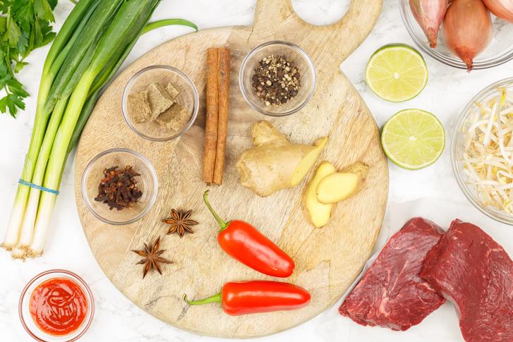 Beef pho ingrediënten