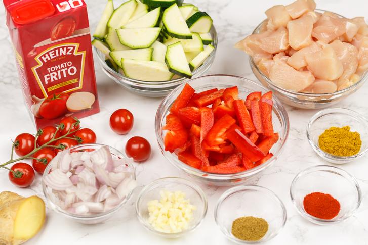 Kip in tomatensaus recept