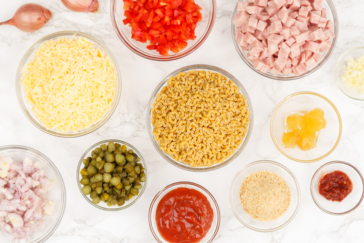Ingrediënten Indische macaroni
