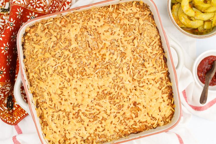 Indische macaroni uit de oven