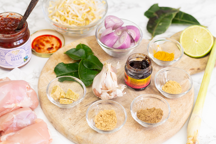 Laksa betawi ingrediënten