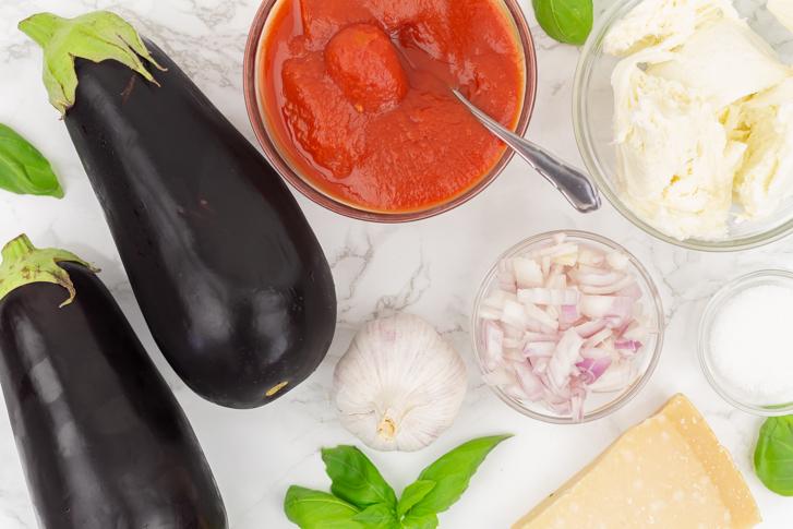 Melanzane parmigiana ingrediënten