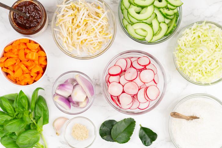 Tjarantjam salade ingrediënten
