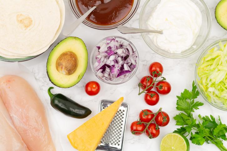 Pulled chicken taco's ingrediënten