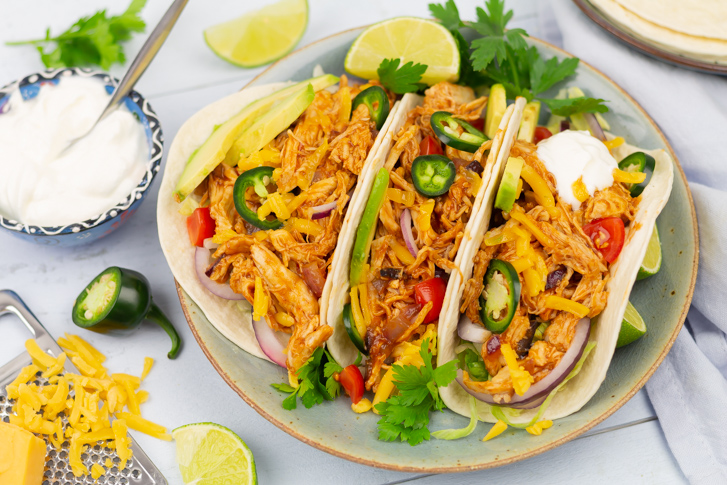 Pulled chicken taco bbq