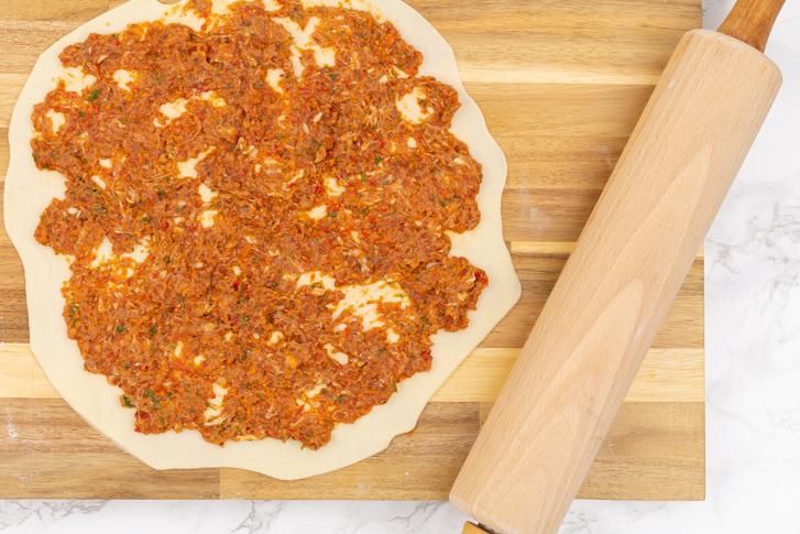 Turkse pizza bodem